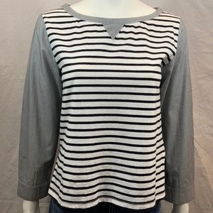 ANTHROPOLOGIE 9H15 STCL POSTCODE STRIPED L/S TOP